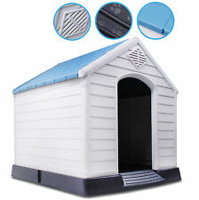XL EXTRA LARGE WEATHER PROOF PLASTIC OUTDOOR PET DOG PUPPY HOUSE KENNEL SHELTER