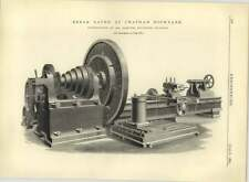 1883 Break Lathe At Chatham Dockyard, Mr Asquith Halifax