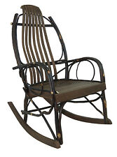 SALE Amish HICKORY & Barnwood Bentwood Rustic Rocker quick ship 199.00