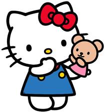 HELLO KITTY  VINYL WALL STICKER WALL DECALS