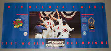 11.75 by 27 inch promo poster - 1991 World Series champions Minnesota Twins