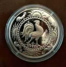 2005 Mongolia 500 Togrog 1 oz silver rooster proof(like?) coin