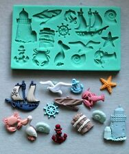 Silicone Mould SEE WITH LIGHTHOUSE Cake Decorating Fondant / fimo mold