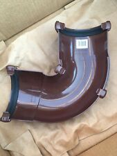 Adjustable Gutter Angle Brown Round 112mm FloPlast RA3 50 - 156 Degree UPVC