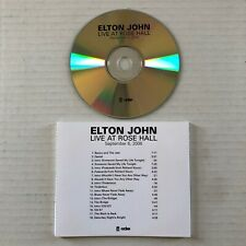 ELTON JOHN Live At Rose Hall 2006 Rocket Records US PROMO Only CD Unreleased
