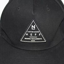 Neff Braving The Elements Skate Streetwear Black White Snapback Baseball Cap Hat