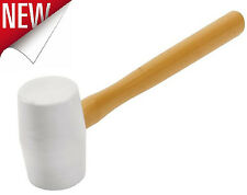 16 Oz Mallet Hammer Synthetic Rubber Head Tile Tapping Vibrations Hammers White