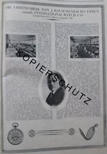 IWC Uhren-Fabrik J.Rauschenbach Erben Schaffhausen Große Werbeanzeige anno 1926