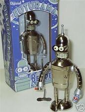 Futurama Bender Bright N Shiny Tin Wind up Robot made in 2008