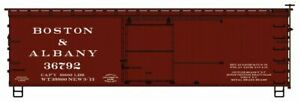 Accurail-36' Double-Sheathed Wood Boxcar, Steel Roof, Wood Ends, Fishbelly - Kit
