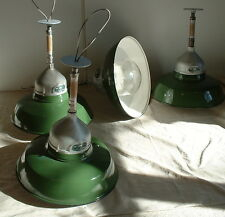 "(1) 18"" Appleton Porcelain Industrial Globe Green Vintage Enamel Lamp Light"