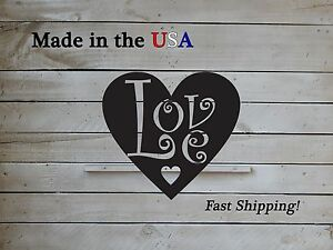 Love Heart Metal Sign, Metal Art, Heart-Love Decor, Country, Wedding Decor,S1106