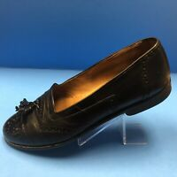 Mens Cable & Co. Black Leather Tassel Loafers Shoes Size 9 D Italian.          B