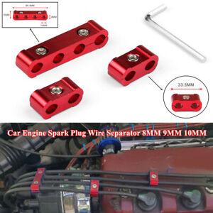 3Pcs Aluminum Alloy Engine Spark Plug Wire Separator Divider Organizer Clamp Kit