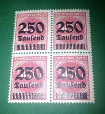 #061 * Germany * Inflation * 500 Mark / 250.000 Mark * 1923 * Block of 4