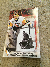RARE Pittsburgh Penguins Ice Time Millennium Team Goalies Tom Barrasso Binkley