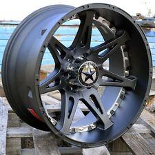 "20"" Matte Black Lonestar Warrior Wheels Ford F150 20x10 6x135 Deep Dish Chrome"
