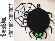 Häkelanleitung TOPFLAPPEN Spinne mit Spinnennetz  Motivtopflappen häkeln