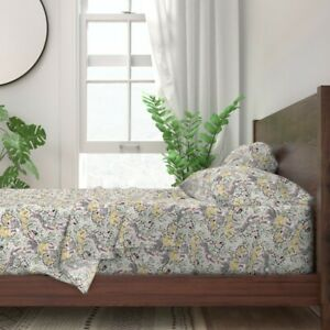 Animals Land Animals Snow Leopard Herb 100% Cotton Sateen Sheet Set by Roostery