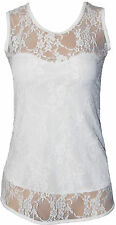 Women's Floral Polyester Hip Length Vest Top, Strappy, Cami Tops & Shirts