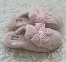 NIB UGG ADDISON Womens Seashell Pink Slippers Velvet Bow Sheep Lamb Size 11 $120