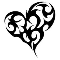 Vinyl Decal Sticker Car Truck Wall Laptop 36 Colors - Tribal Love Heart