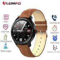 LEMFO L9 IP68 waterproof business sport smart watch monitor ECG blood oxygen