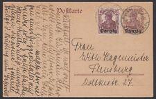DANZIG, 1921.  Post Card P2, Mi3, Flensburg