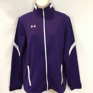 Under Armour Women's UA Qualifier Purple Full Zip Jacket Sz Small 1270482