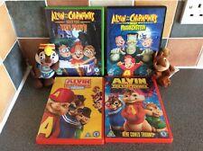 BUNDLE - ALVIN & THE CHIPMUNKS 4 DVDS INC HALLOWEEN  WOLFMAN & FRANKENSTEIN £10