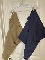 Lot Of 2 Gerry Hybrid Shorts Cargo Lightweight Hiking Outdoor Rayon Mens 32
