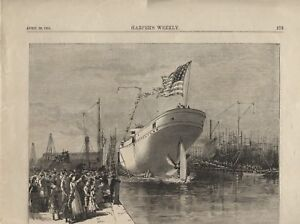 Navy Ship/Military -DISPATCH BOAT DOLPHIN-From Harper's Weekly-Dolphin Ship1884