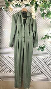 Banana Republic Womens Green Modal Blend Flight Suit Jumpsuit Size 0