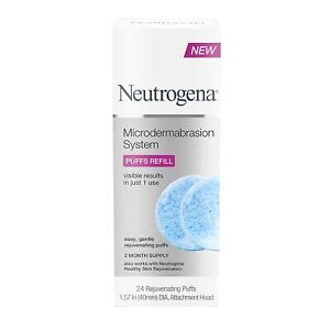 Neutrogena Microdermabrasion System Puff Refills, Exfoliator face 24 Count