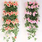 2.4m long Silk Rose Flower Ivy Vine Leaf Garland Wedding Party bouquet Popular