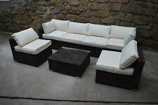 Poly Rattan Sitzgruppe Gartenmöbel Lounge Set Rattanmöbel Garnitur schwarz-braun