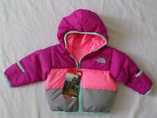 New The North Face Kids Infant Girls Moondoggy Reversible Down Jacket 3-6 months