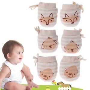 Baby Cartoon Glove Anti Scratch Face Hand Guard Protection Soft Newborn Mitten