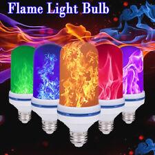 Fire Flame LED Light Bulb Flicker Burning Effect E27 Corn Bulb Decor Lamp 4modes