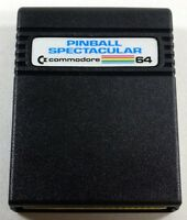 Commodore 64/128: PINBALL SPECTACULAR game - 64 Cartridge, TESTED -