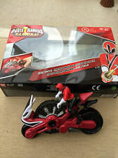 Power Rangers Samouraï Disc Cycle Red Ranger Connects to mégazord mode