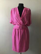 Betty Barclay Pink Striped 80s Cotton Dress