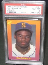 PSA 8 NM/MT 1989 Classic Travel KEN GRIFFEY JR. Rookie Baseball Card #131 RC