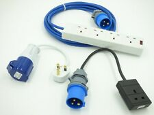 Electric Hook Up Mains KIT Adaptor Converters for Caravans, Camping, generator