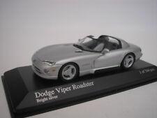 DODGE VIPER Convertible 1993 Brillo Plata 1/43 MINICHAMPS 430144034 NUEVO