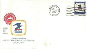 1971 Lynnwood, Washington as FDC w Cachet for 8¢ USPS Emblem Stamp, Scott #1396~