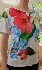 TED BAKER BNWT! *Forget Me Not* Top UK 12 3 Holiday ~Party~ Cruise White FLORAL