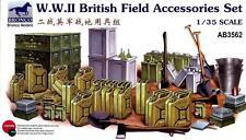 Bronco 1/35 AB3562 WWII British Field Accessories Set Model Kit/Maquette TBD165