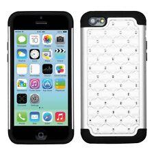 iPhone 5C - Hard & Soft Silicone Hybrid Armor Impact Diamond Bling Case Cover