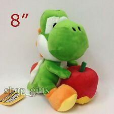 "Super Mario Bros. Yoshi Touch & Go Plush Yoshi Apple Soft Toy Stuffed Animal 8"""